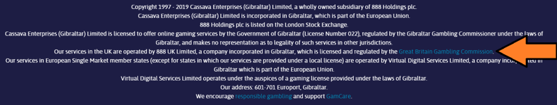 UK licence example