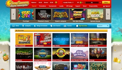 play sunny casino screenshot