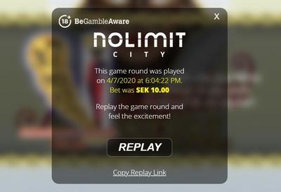 Nolimit City Replay