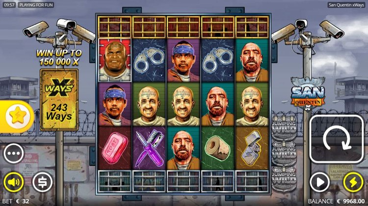San Quentin Xways Slot Reels