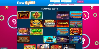 New Spins homepage