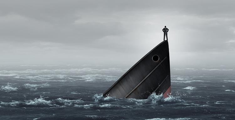 Sinking Ship Failing Business