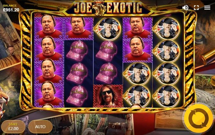 Joe Exotic Slot Reels